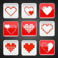 Pointer abstract heart symbols design for your business Stock Images
