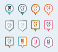 Pointer banner background vector illustration of pin backgrounds Royalty Free Stock Images