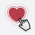 Pointer finger heart digital hand pointing at Royalty Free Stock Image