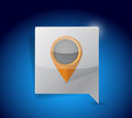 Pointer and locator icon illustration design over a blue background Stock Photography