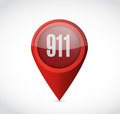 911 pointer sign concept illustration design