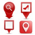 Pointer target for map maps on the internet or applications set of different options gps tags Stock Image