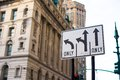 Pointers on the road to streets in new york city way Stock Photos