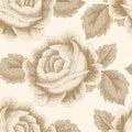 Pointillism floral pattern