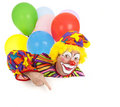 Pointing Clown Design Element Royalty Free Stock Images