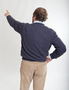 Pointing man rear view Stock Photography