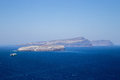 Pointview on the santorini caldera in greese Royalty Free Stock Images