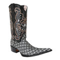 Pointy cowboy, pattern printed cloth boot Royalty Free Stock Photo
