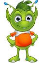 Pointy Eared Alien Character Royalty Free Stock Photo