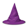 Pointy Wtch Hat Isolated, Vector Illustration