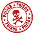 Poison danger rubber stamp