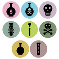 Poison icon designs a set of for graphic element use Royalty Free Stock Image
