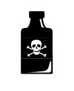 Poison illustration of a bottle with Royalty Free Stock Image