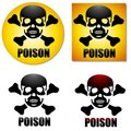 Poison Skull Crossbones Symbols Royalty Free Stock Image