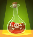 Poisonous potion vector illustration Royalty Free Stock Photo