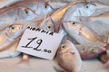 Poissons au marché d'Aegina Photo stock