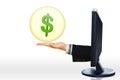 Pojęcie handel elektroniczny, shopping/e-business/internet półdupki/online Zdjęcie Royalty Free