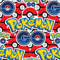 Pokemon Go many balls seamless pattern