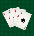 Poker Of Aces Royalty Free Stock Photo