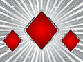Poker background - rhombus Royalty Free Stock Photo