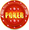 Poker banner for websites and other places Stock Photography
