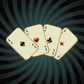 Poker card illustration Stock Photos