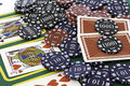 Poker Cards and chips Royalty Free Stock Images