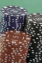 Poker Cards and chips Stock Image