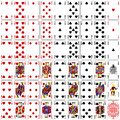 Poker cards full set four color classic design Royalty Free Stock Photo