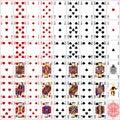 Poker cards full set four color classic design dpi Stock Image