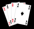 Poker cards illustration isolated in blackbackground Stock Image