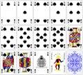 Poker cards spade set four color classic design