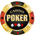 Poker casino banner for websites and other places Royalty Free Stock Photography