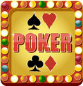 Poker casino banner for websites and other places Stock Photos