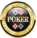 Poker casino chip for websites and other places Stock Photography
