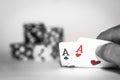 Poker Check Royalty Free Stock Photo