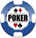 Poker chip casino for websites and other places Royalty Free Stock Images