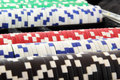 Poker chips Royalty Free Stock Photos