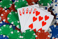 Poker Chips and Cards Stock Photos