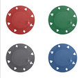 Poker chips collage Royalty Free Stock Photo