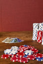 Poker chips and credit cards Royalty Free Stock Image