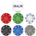 Poker Chips Set with Dealer Button. Vector Illustration Royalty Free Stock Photo