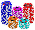 Poker Chips (Stacked) Royalty Free Stock Photo