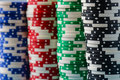 Poker Chips Stacked Royalty Free Stock Photo