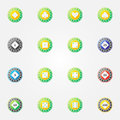 Poker chips vector bright icons Royalty Free Stock Photo