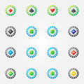 Poker chips vector bright signs Royalty Free Stock Photo