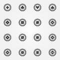 Poker chips vector icons Royalty Free Stock Photo