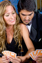 Poker couple Royalty Free Stock Photography