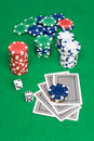 Poker game setting Stock Photos