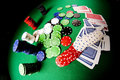 Poker gear fisheye look Stock Photos